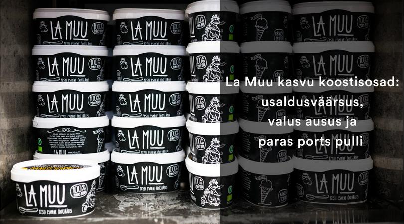 La Muu kasvu koostisosad: usaldusväärsus,  valus ausus ja paras ports pulli