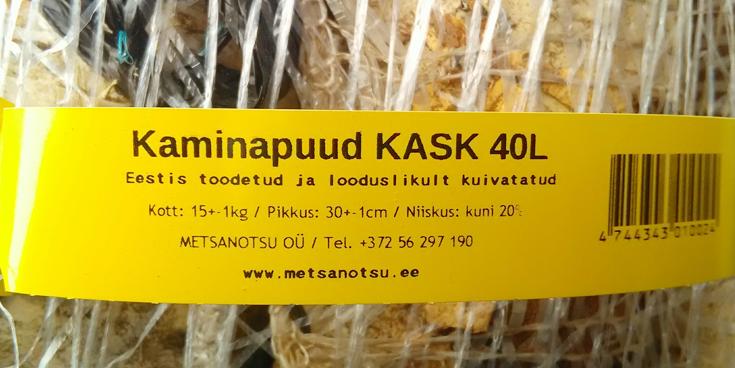 Metsanotsu kaminapuud on looduslikult kuivatatud ja toodetud Eestis