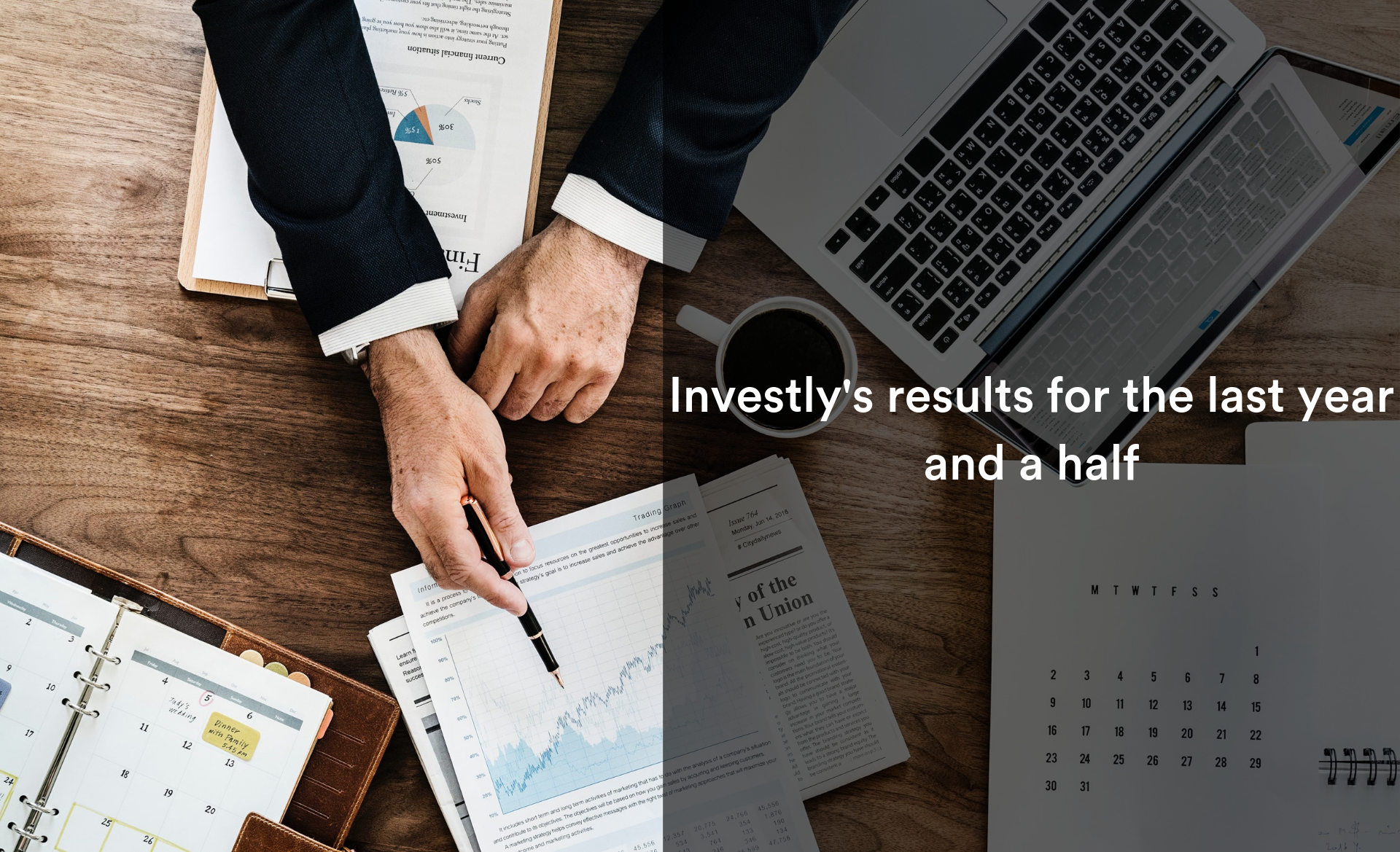 Investlys results for the last year and a half