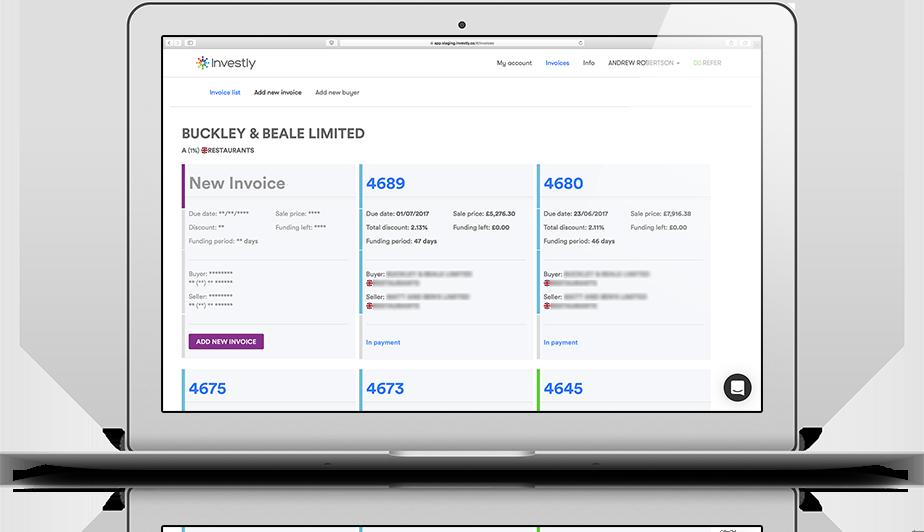 Invoice financing platform - Investly